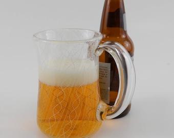 Art Glass Beer Mug - Hand Blown Mug