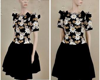Beautiful Vintage 80s party dress by MICHAEL NOVARESE