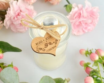 30 x Jasmine Palm Wax Candle with Wooden Gift Tag