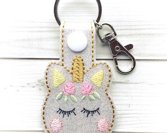 Unicorn Keychain - Unicorn Key Chain - Magical Unicorn - Unicorn Gift - Unicorn Macaron - Unicorn Macaron Keychain