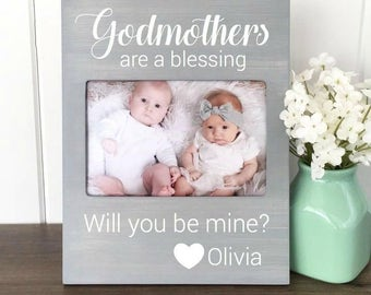 godmother picture frame will you be my godmother godmother gift godfather gift new aunt gift godparent gift will you be my godparents