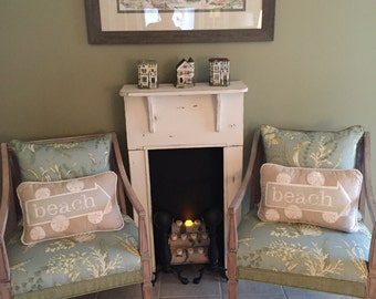 Faux  Fireplace Mantle  / Decorative  fireplace surround (cottage style )