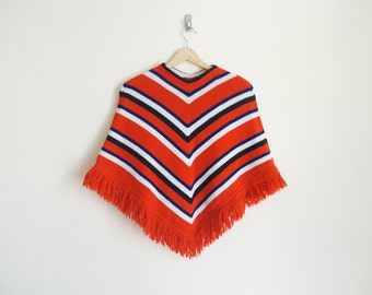 Vintage Red Poncho