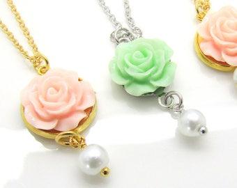 Flower Girl Necklace, Flower Girl Gift, Flower Girl Jewelry, Wedding Jewelry,Children's Jewelry,Girls Flower Necklace,Junior Bridesmaid Gift