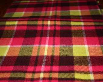 Vintage Cashmere Plaid Scarf- Made in Scotland