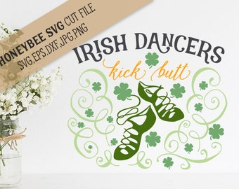 Irish Dancers kick Butt svg eps dxf jpg png cut file for Silhouette and Cricut type cutting machines