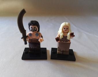 Game of Thrones, Daenerys e Khal Drogo, minifigures lego block.