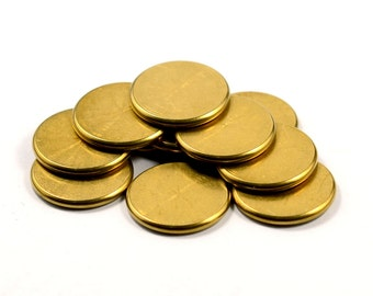 50 Pcs. Solid Raw Brass 2x18 mm Round Disc Findings