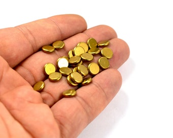 200 Pcs. Solid Raw Brass 2x8 mm Round Disc Findings