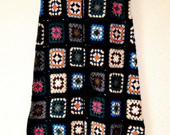Granny Square Maxi Length Skirt Crochet
