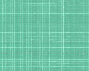 Baby (single) bed skirt, green wire (turquoise, mint)