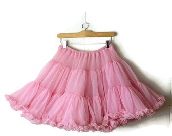 Vintage Pastel/Pale Pink Two layers Tutu / Chiffon Skirt / petticoat from 1970's*
