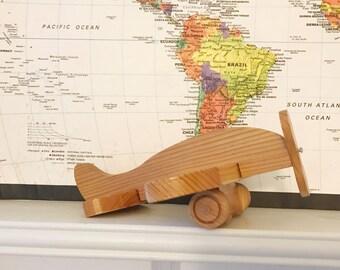 Vintage Wooden Toy Airplane ~ Airplane Nursery Decor
