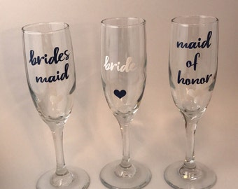 Wedding Party Champagne Glasses