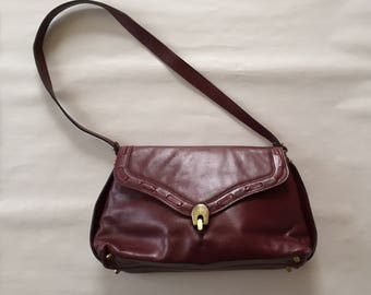 Etienne Aigner purse | 70s leather oxblood red purse