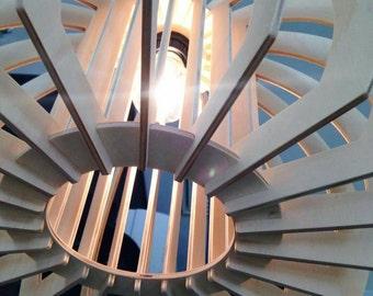 Wooden Pendant light - 'Rotundus Pendant Light' - Natural - Made in Brisbane Australia - Certified hoop pine
