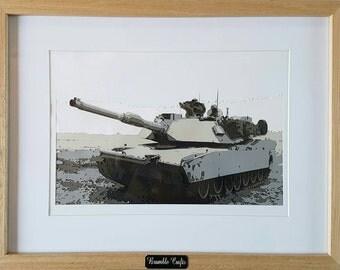 Tank, art, papercut, layered papercut, memorabilia, tank memorabilia, tank art, tank picture, handmade, tank photograph