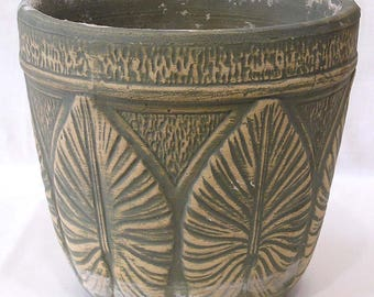 Large Jardiniere Green Stoneware