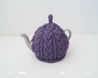 Knitted Tea Cozy Purple - BAILEY