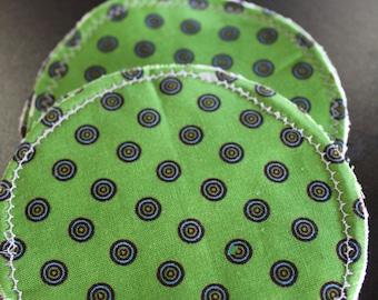 Green & Blue Polka Dot Nursing Pads