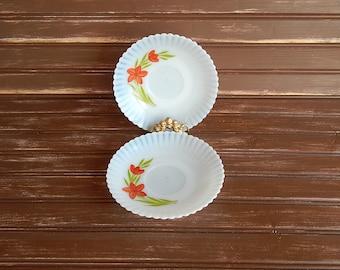 Petalware - Saucers - Set of 2 - Florette by MacBeth-Evans - 1930-1935