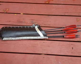Mounted Archery Quiver - Faux Leather Quiver for Arrows - Cosplay Archery Quiver - Target Archery Arrow Holder