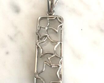 Vintage Silver Star Necklace Pendant