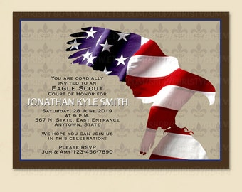 Eagle Scout Court of Honor Invitation Card - 16074