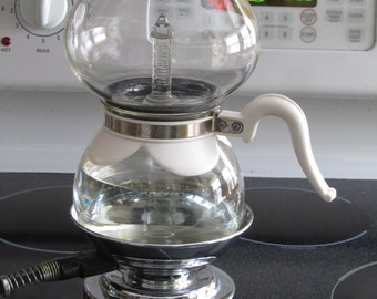 Vintage Refurbished Silex Glass  Vacuum Coffee Maker 8 Cup with Stove  SKU829