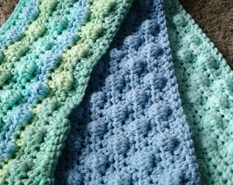 3 Crochet Swiffer covers in blue & green tones, swiffer duster, swiffer mop, reusable Swiffer pad, Swiffer sweeper