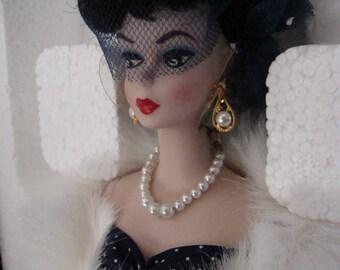 Porcelain Barbie Gay Parisienne NRFB Mint  1st in series