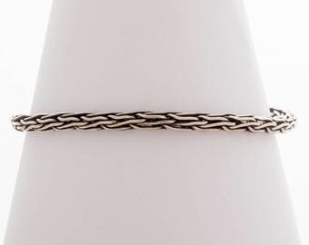 Sterling Silver Viking Knit Bracelet