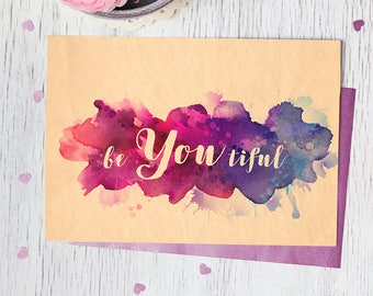 Be YOU tiful Mother's Day Printable Card