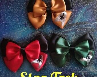 Star Trek Uniform inspired bows