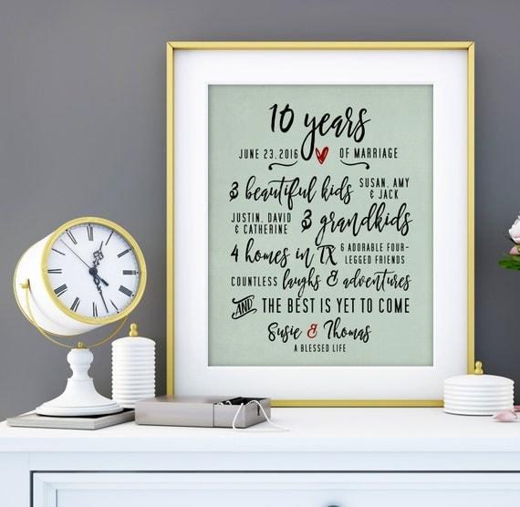 10th Wedding Anniversary Gift: 10 Year Anniversary Gift For Men 10th Wedding Anniversary
