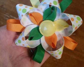 Spring ribbon flower
