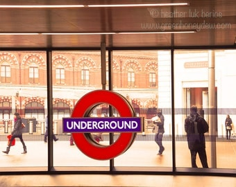 London Underground - Fine Art Contemporary Photography Print, England Subway Metro St Pancras Kings Cross Station