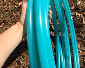 """Billiant Aqua Blue 3/4"""" polypro colored hoop"""