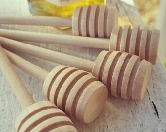 Mini Honey Dippers - Honey Favors - Wooden Honey Dippers - Rustic Honey Dippers -  Mini - 3 1/4 inch Honey Dippers - Rustic Weddings