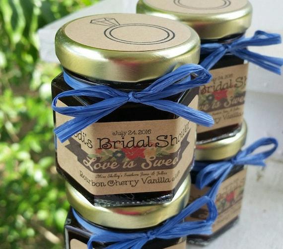 Mini Jelly Jars Wedding Favors: 50 (1.5oz) Mini Jam