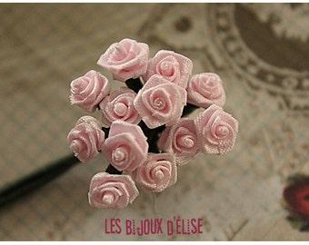 Sale 50% - 12 pcs Pink Rose Bouquet 8mm (Bouquet001)