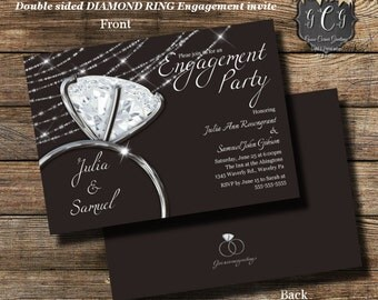 Engagement Party Invitation/ Engagement Party Invite/Engagement Dinner Invitation/ Printable Engagement invite/ Printed engagement invite