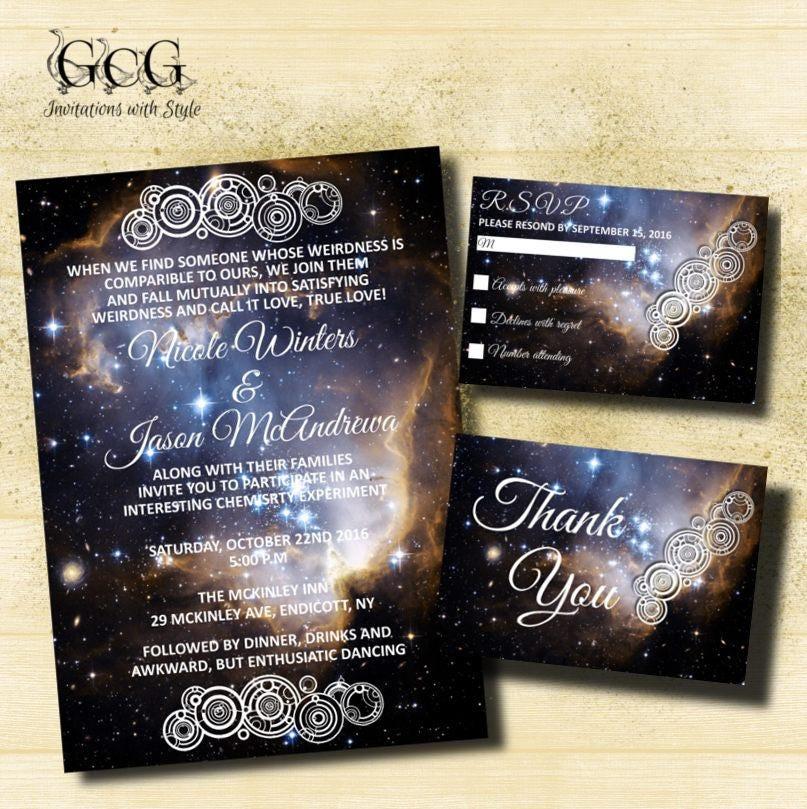 Printable space invitation suite space theme invitations for Space themed stationery