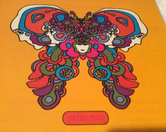 Vintage PETER MAX NOTEBOOK Covers Mint Condition Free Shipping
