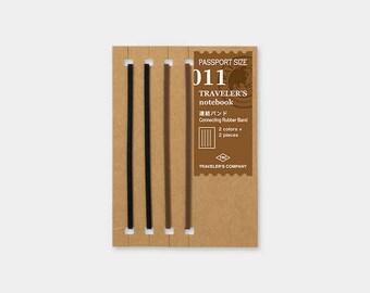 Midori Traveler's Notebook Accessories 011 - Connecting Bands - Passport Size - Set of 4