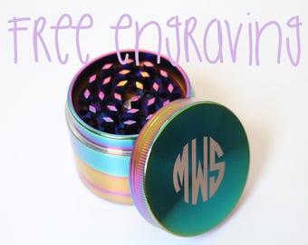 Rainbow Herb Grinder Groomsmen Gifts Custom Herb Grinders Engraved Grinders Personalized Herb Grinders Groomsman Gift Gifts for Him Metal