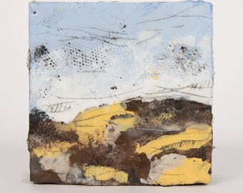 Original MIni Abstract Landscape Painting