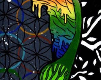 Psychedelic Samara Print