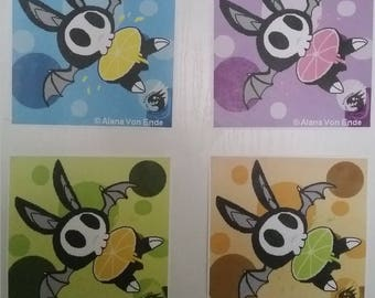 Warhol inspired Skullbats prints