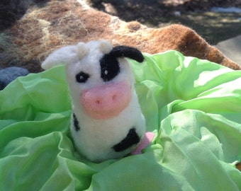 Needle felted cow,Farm animal